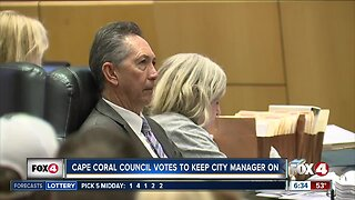 Cape Coral council votes to keep City Manager on