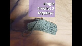 Learn to crochet 2 single crochet together