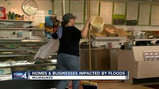 Homes and business impacted by floods - Video