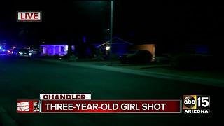 3-year-old girl shot in Chandler Thursday night