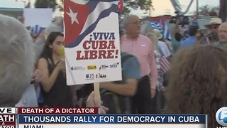Thousands rally for democracy in Cuba - Video
