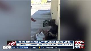 14-year-old arrested after violent video goes viral - Video