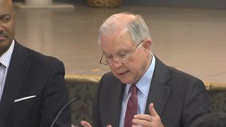 U.S. Attorney General Jeff Sessions discusses a community-based model of fighting crime in Indianapolis - Video