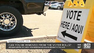 Can you be removed from the voter rolls?