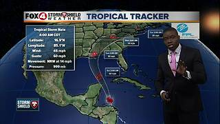 Tropical Storm Nate -- 5am Friday Update - Video