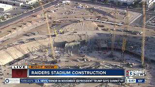A look at the construction on Raiders stadium - Video