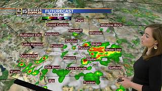 Storm chances still in play in Arizona