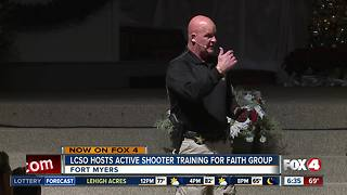LCSO holds active shooter training for faith groups - Video