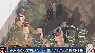 KCFD free man stuck in trench - Video