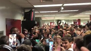 Miami Heat's Dwyane Wade Visits Students at Stoneman Douglas High - Video