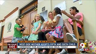 Teacher adds to her family of 5, adopts 2 children from foster care - Video