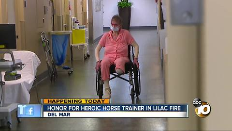 Horse trainer who saved horses from Lilac Fire to be honored