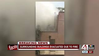 Business owners evacuated from NKC fire - Video