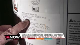 Carbon Monoxide warning signs inside your home