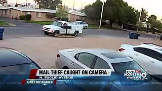 Mail thief caught on camera - Video