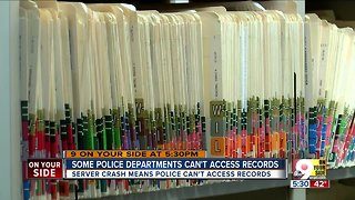 Some police departments can't access records
