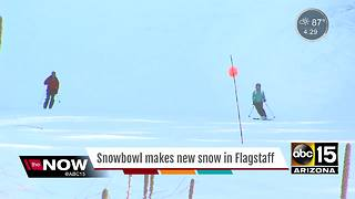 It's snowing in Flagstaff already! - Video