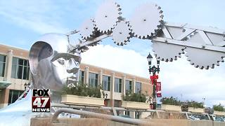 New sculpture comes to Lansing - Video