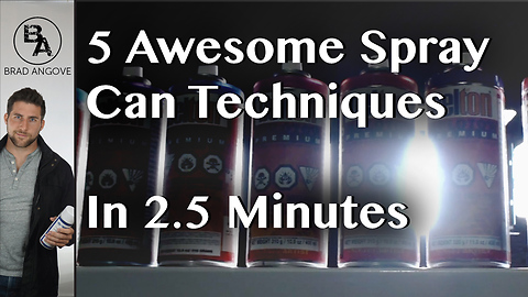 5 cool spray can tricks in 2.5 minutes