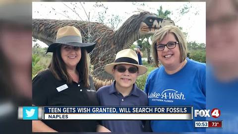 Teen Gets Wish Granted, Will Search For Fossils