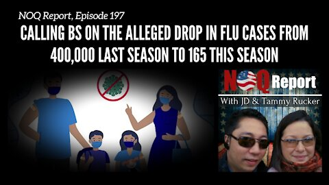 Calling BS on the alleged drop in flu cases from 400,000 last season to 165 this season