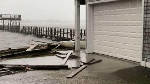 Wind, Water Still Heavy as Florence Slowly Moves Inland