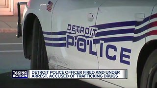 Detroit police officer fired for allegedly trafficking drugs