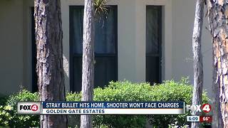 Stray bullet hits home, comes close to hitting family inside - Video