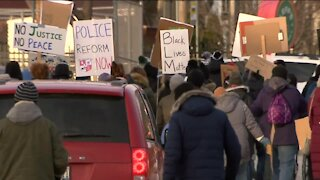 Dozens march for police reform in Wauwatosa