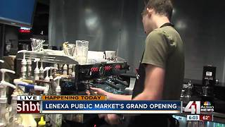 Lenexa's public market makes grand opening - Video