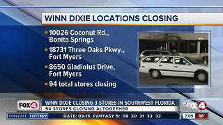 Winn Dixie locations closing - Video