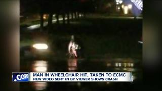 Man in wheelchair hit near UB south - Video