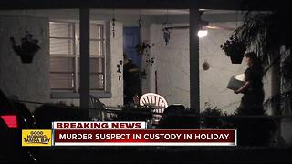 Pasco Sheriff's detectives investigating homicide in Holiday - Video