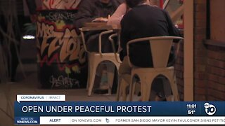 Businesses remain open under Peaceful Protest