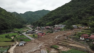 Landslides Seen in Hiroshima Prefecture Following Severe Flooding - Video