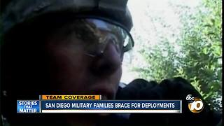 San Diego military families brace for military deployments - Video