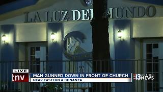 Man gunned down in front of church - Video