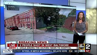 2 people shot in west Baltimore - Video