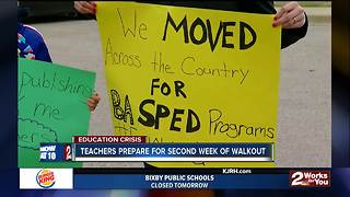 Teachers prepare for second week of walkout - Video