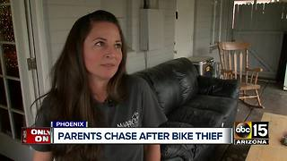 Phoenix parents chase after bike thief