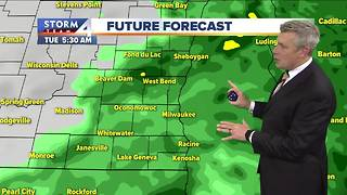 Soggy commute Tuesday morning, highs in the 50s - Video