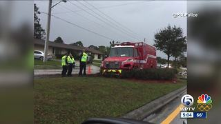 Ambulance crashes in Port St. Lucie - Video