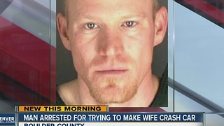 Man arrested for trying to kill wife in car crash