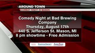 Around Town 8/16/17: Comedy Night at Bad Brewing Company - Video