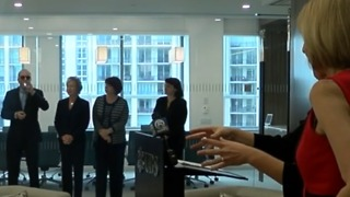 Largest financial office now open at City Place Tower - Video