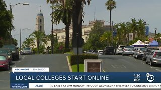 Local colleges start online