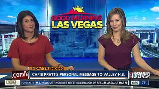 Actor Chris Pratt gives shout-out to Green Valley HS