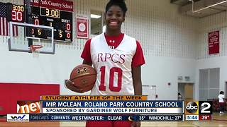 student athlete of the week Mir McLean - Video