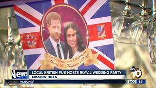 Local pub hosts royal watch party - Video