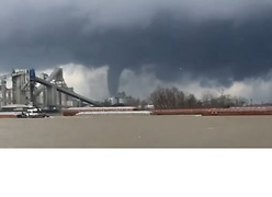 Tornado Sighted in Louisiana's St. James Parish - Video